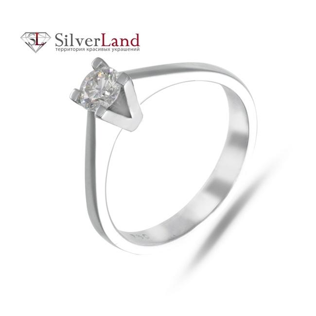 Кольцо из белого золото 750 пробы с бриллиантом 0,52 карата Арт. K876832 86865449367